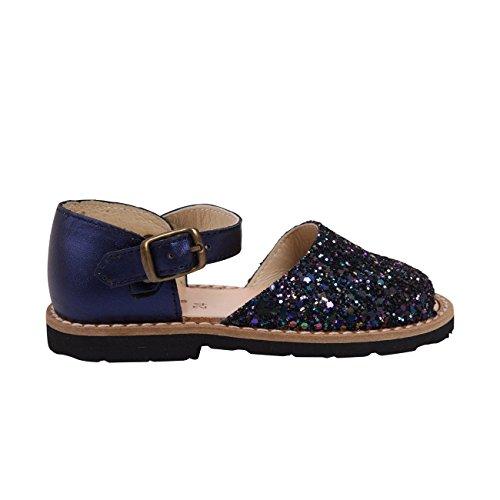 Minorquines - Sandales Frailera Boucle Paillettes Azul Multico - Enfant Multicolore
