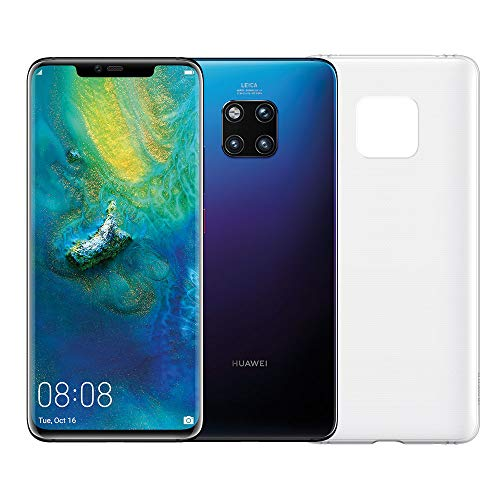 "Huawei Mate 20 Pro (Twilight) plus originele cover, telefoon met 128 GB, Display Oled 6.39 ""QHD +, Dynamic Octa Core-processor met kunstmatige intelligentie"