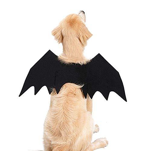 Lomire Halloween Haustier Fledermaus Flügel Klein Groß Hund Katze Fledermaus Kostüm Kleidung, Cosplay Party Haustier Kleidung (L)