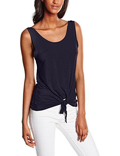 Only Onlmiley S/L Knot Top Ess, Débardeur Femme Bleu (Night Sky)