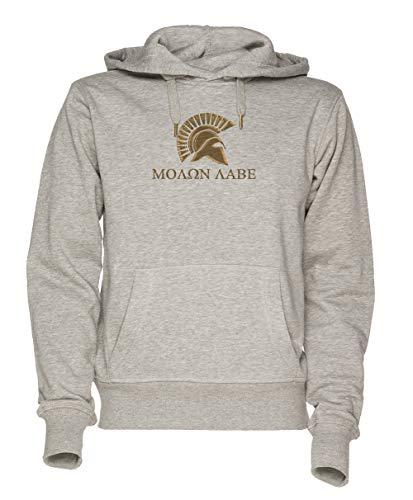 Jergley Molon Labe-Spartan Warrior Unisex Grau Sweatshirt Kapuzenpullover Herren Damen Größe S | Unisex Sweatshirt Hoodie for Men and Women Size S (300 Krieg Spartan)