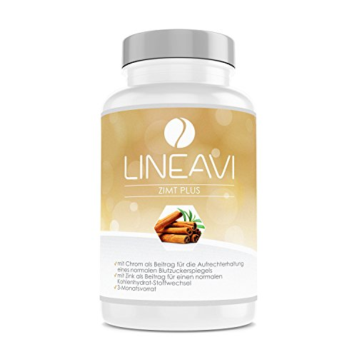 LINEAVI Cannelle Plus | 400 mg de cannelle, 7 mg de zinc, 100 µg de chrome par jour...