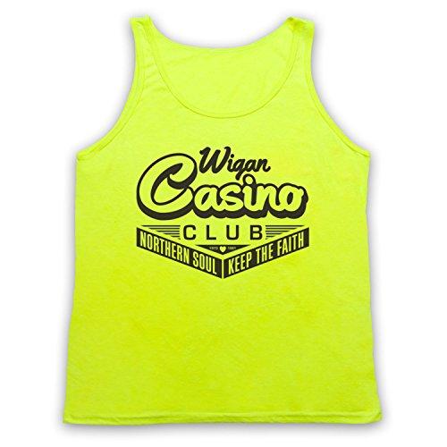 Wigan Casino Northern Soul Tank-Top Weste Neon Gelb