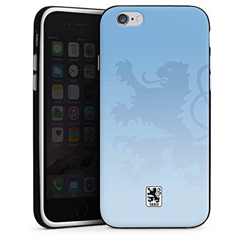 Apple iPhone 6s Silikon Hülle Case Schutzhülle TSV 1860 München Fanartikel Merchandise Fußball Silikon Case schwarz / weiß