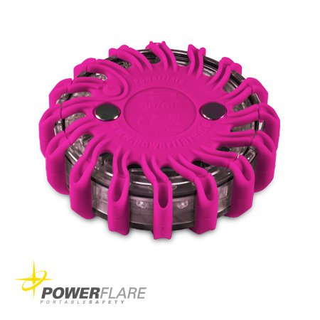 Powerflare LED Batterie Signallicht in pink