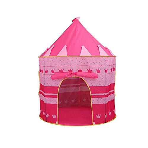 Spielen Kids Castle Zelt mit Glow in the Dark Sterne faltbare Pop Up Rosa Spiel-Zelt/Haus-Spielzeug für Indoor & Outdoor Nutzung
