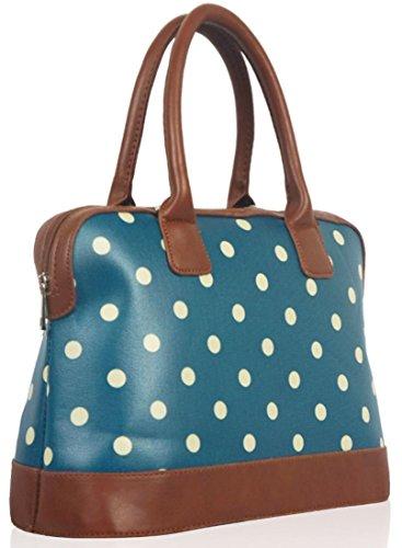 Kukubird Pois Tela Opaca Borsa Bowling Bag Con Sacchetto Di Polvere Di Kukubird Lake Blue