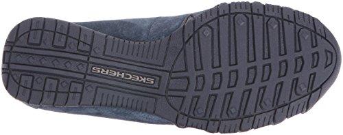 SkechersBikers Pedestrian - A collo basso uomo Navy Suede