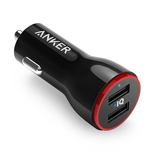 Anker PowerDrive 2 Auto Ladegerät 24W / 4.8A 2-Port USB Kfz Ladegerät Power IQ für iPhone 8 / 8 Plus/ iPhone X, iPad Air / Mini, Samsung Galaxy / Note, - Shuffle Mit Mp3-player
