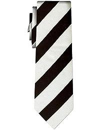 cravate rayée stripe VI snow white black