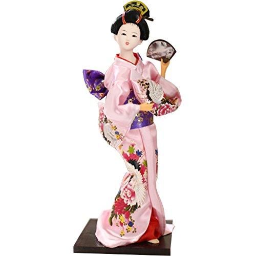 """Chinashow 12\"""" Traditionelle Japanische Schöne Kimono Geisha Puppe Orientalische Puppe Maiko Puppe Beste Geschenke A18"""