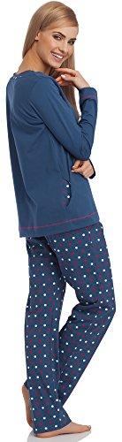 Cornette Damen Schlafanzug 679 2016 Jeans
