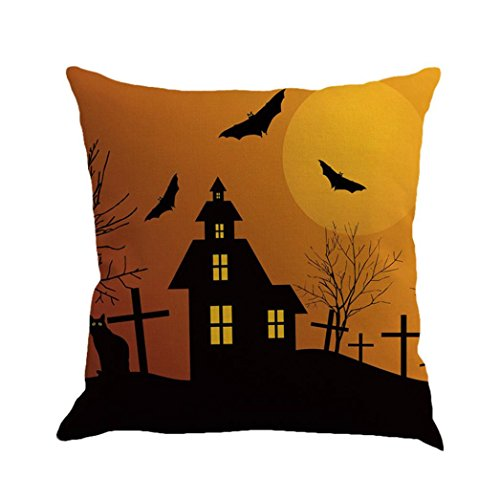 issenbezüge, Happy Halloween Kissenbezug Home Decor (B) (Queen B Halloween-kostüm)