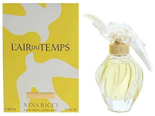Nina Ricci Parfüm Duft (Nina Ricci L'Air Du Temps Eau de Toilette mit Zerstäuber - Damen, 1er Pack (1 x 50 ml))