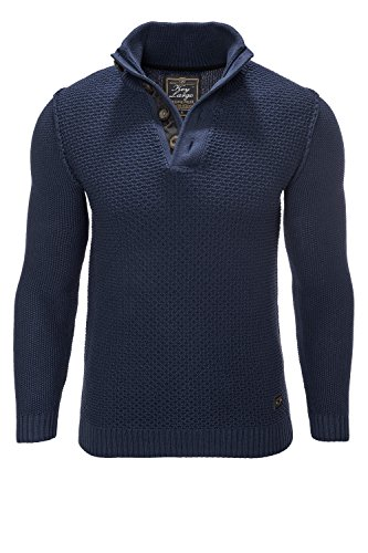 Key Largo Herren Strickpullover Langarm Pullover Sweater (L, Navy 1200)