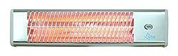SUNTEC Heizstrahler Heat Ray 1500 [Für Räume bis 45 m³ (~19 m²), Für Außennutzung (z.B. Terrasse) geeignet, Wandmontage, 3 Stufen, 1500 Watt]
