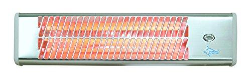 KLIMATRONIC Heizstrahler Heat Ray 1500 [Für Räume bis 45 m³ (~19 m²), für Außennutzung (z.B. Terrasse) geeignet, Wandmontage, 3 Stufen, max. 1500 Watt]