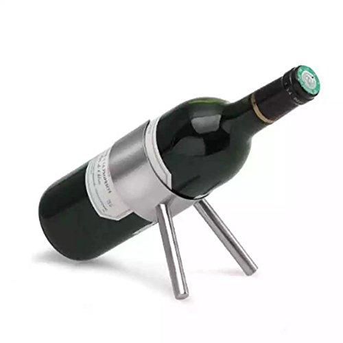 isasar Edelstahl Wein Rack einzelnen Wein Flasche Wein Flasche Halter Display C Style (Einzelne Weinkühler Flasche)