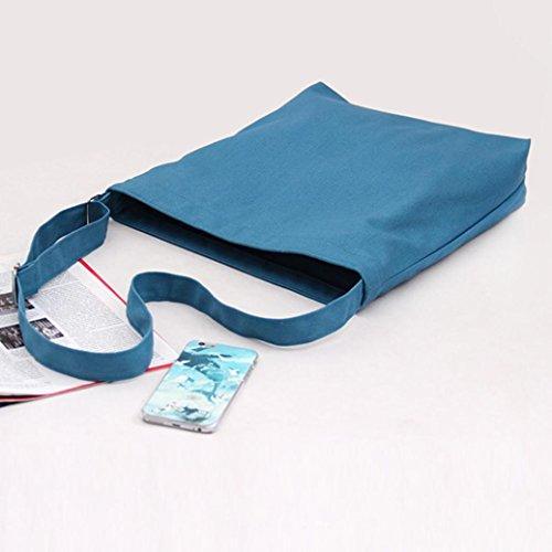 BZLine® Frauen Leinwand Shopping Handtasche Tote Shopper Taschen, 35cm(L)*37cm(H)*8cm(W) Grün