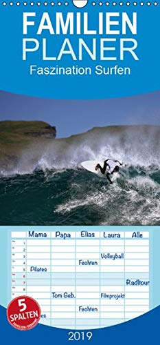 Faszination Surfen - Familienplaner hoch (Wandkalender 2019 , 21 cm x 45 cm, hoch): Faszination Surfen, eingefangen in atemberaubenden Bildern (Monatskalender, 14 Seiten ) (CALVENDO Hobbys)