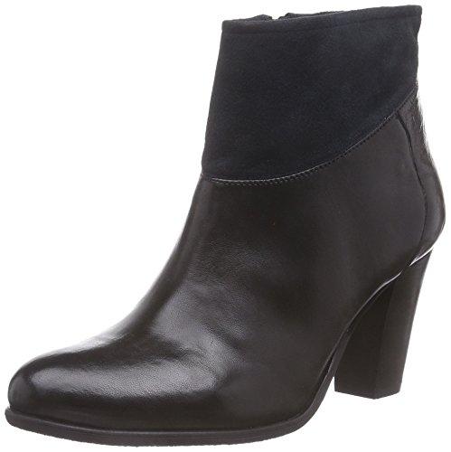 SPM Calvin Ankle Boot, Stivali classici imbottiti a gamba corta donna, Multicolore (Mehrfarbig (Black/Dk Navy 006)), 40