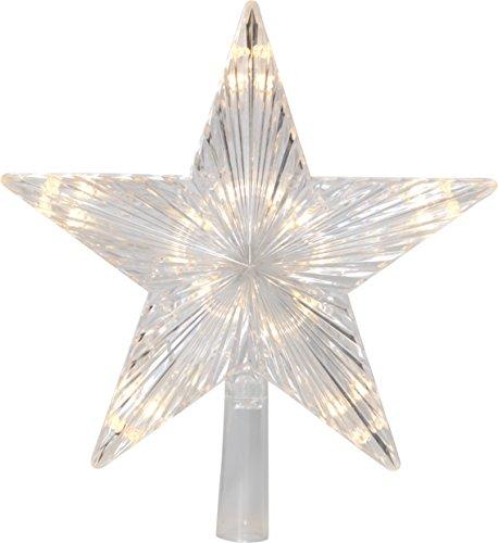 Star Baumspitze Topsy, 10 warmwhite LED, Plastik, Silber, 2.2 x 2.4 x 0.5 cm