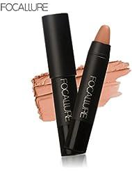Rouge à lèvres,Honestyi 12 couleurs en option FOCALLURE Stylo à lèvres mat Imperméable Maquillage pour les lèvres...