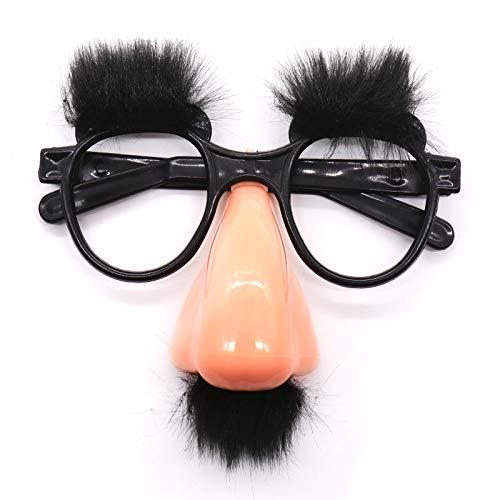 Nerd Kostüm Mustache - WSJDE Halloween Gefälschte Maske Nette Schwarze Große Nase Lustige Brille Schnurrbart Augenbraue Für Halloween Party Decor Clown Kostüm Requisiten