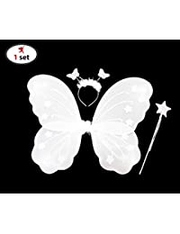 Party Propz Fairy Butterfly Wings Costume for Baby Girl, White