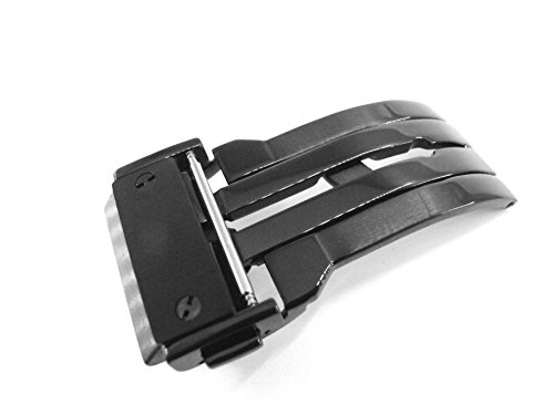 jrrs7777-22mm-stainless-steel-butterfly-deployment-watch-strap-black-buckle-wristband-parts-fit-hubl