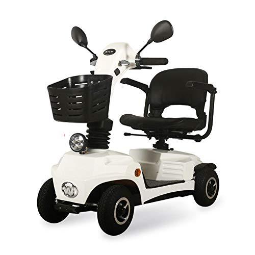 ZZUU Elektromobil Für Senioren, Scooter e-Mobil, Das Wendige Mini-Seniorenmobil/e-Mobil Inkl. 16 Ampere Lithiumbatterie,White