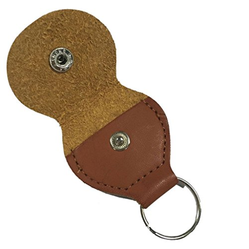 Imported 1Pcs Leather Keychain Guitar Pick Holder Plectrum Bag Brown Case-57001388MG  available at amazon for Rs.160