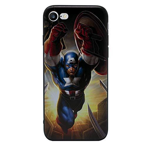 iPhone 5/5s 3D Marvel Silikonhülle / Gel Hülle für Apple iPhone 5s 5 SE / Schirm-Schutz und Tuch / iCHOOSE / Captain America (Marvel Handy-fall Iphone 5)