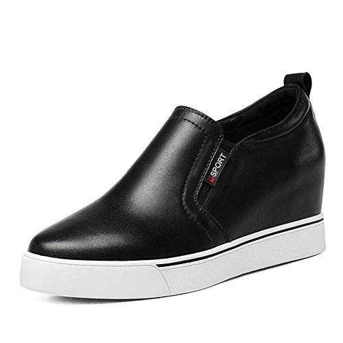 Hohen dicken Boden Spitze der wilden weißen Schuh/ Plattform Keile Schuhe A