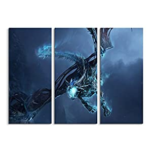 World of Warcraft – Ice Dragon 3-teiliges Wandbild 3x90x40cm