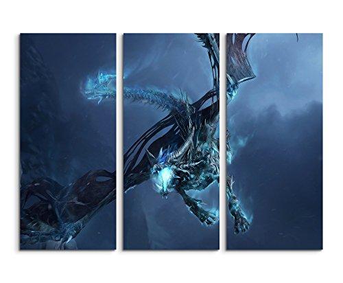 World of Warcraft – Ice Dragon 3-teiliges Wandbild 3x90x40cm