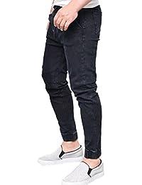 Pantalones vaqueros hombres rotos,Sonnena Hombres Pantalones rasgado Slim Fit motocicleta Shorts pies Resistirá envejecer jeans…