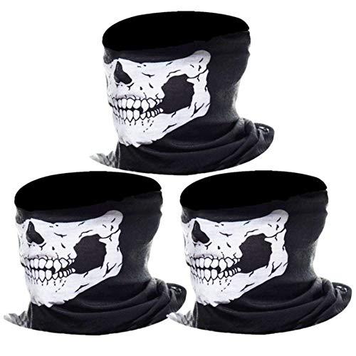LOTONJT 1 Stück Totenkopf Schwarz Skull Maske