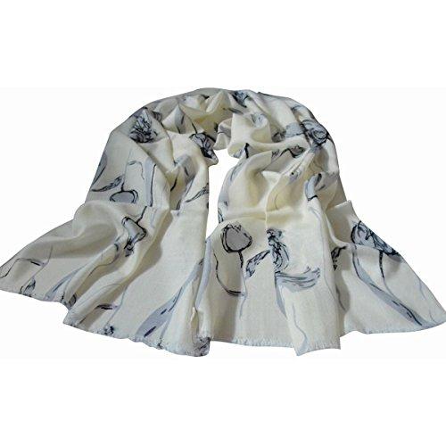 O E-mail Urlaub (Mai Dou Schal Frauen Joker Multicolor Künstliche Wolle Warm Komfortabel,O-OneSize)