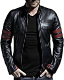 #10: Comfort Zonee Hot New Release of Men Pu Leather Jacket Black