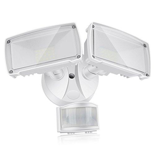 Luces LED de Seguridad 2800LM, Luz Exterior con Sensor de Movimiento 25W,...