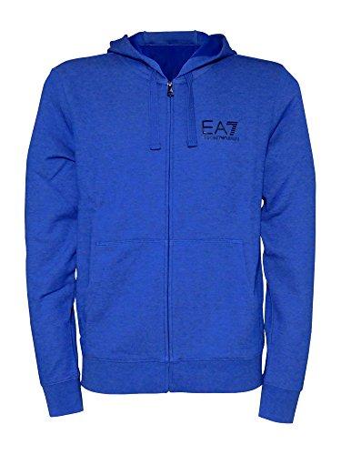 Emporio Armani EA7 felpa con cappuccio uomo blu Bluette