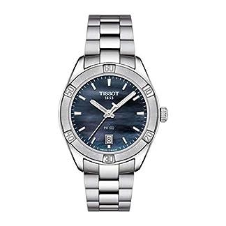 Tissot Reloj Analógico para Mujer de Cuarzo con Correa en Acero Inoxidable T1019101112100