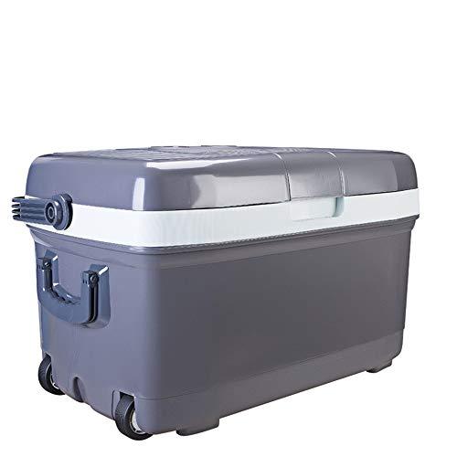 Wuxingqing Mini-Kühlschrank fürs Auto Kühler und wärmerer elektrischer 45-Liter-Wechselstrom-Haus- und 12-V-Gleichstrom-Kfz-Stecker für Autos und Privathaushalte mit Rädern