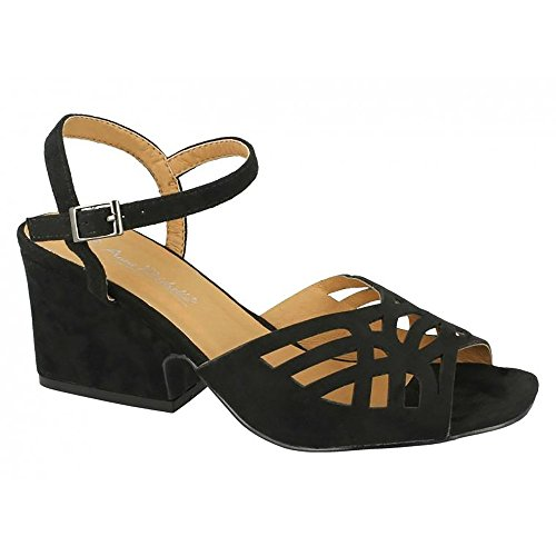 W0vwd1qnv Noir Chaussures Chunky Femme Michelle Anne xgqaPwF
