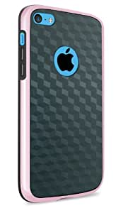 vau Bumper Cuboid - rose - TPU Silikon-Case, Tasche für Apple iPhone 5C
