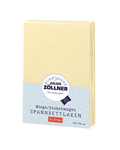 Julius Zöllner 8310013120 - Spannbetttuch Frottee für die Wiege, Größe: 90 x 40 cm, Farbe: vanille
