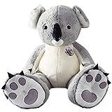 Catkoo - Peluche a Forma di Koala, 80/100 cm, in Cotone Naturale, San Valentino, 80 cm