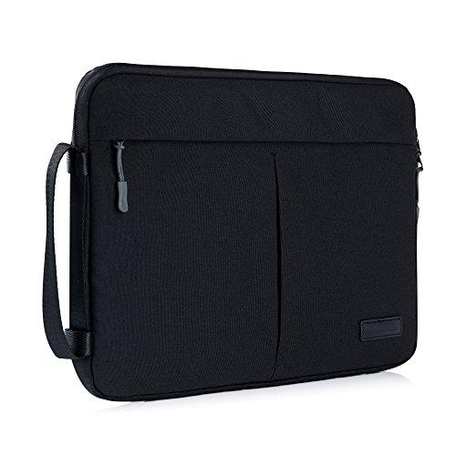 """Y-master 14-15,4 Zoll Laptophülle wasserdicht dünn für Lenovo Dell Acer Asus Macbook Toshiba und andere 14-15,4"""" Ultralbooks Notebooks für Damen und Herren, Schwarz"""
