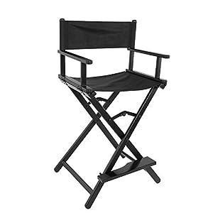 Klappbar Regiestuhl,Aluminiumlegierung Stühle Hoch Regiestuhl Klappstuhl Stuhl für Make-up Studio Make-up-Artists…